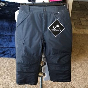 Boys/Girls Vertical'9 black snow pants